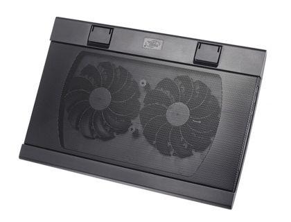 "Подставка для ноутбука Deepcool WIND PAL FS 17"" 382x262x24mm 22-27dB 2xUSB 793g Fan-control Black   интернет-магазин TOPSTO"