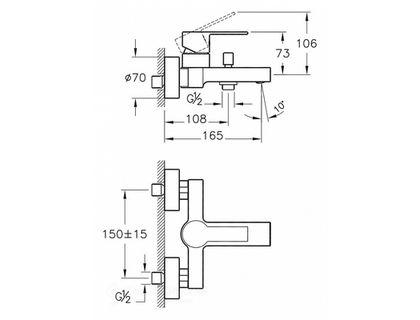 Смеситель VITRA Flo S A41937EXP | интернет-магазин TOPSTO