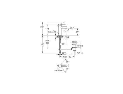Смеситель GROHE Essence New 32898001 | интернет-магазин TOPSTO