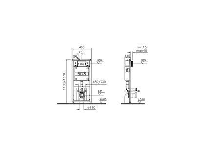 Унитаз VITRA Normus 9773B003-7202 | интернет-магазин TOPSTO