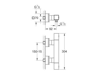 Термостат GROHE Grohtherm Cube 34488000   интернет-магазин TOPSTO