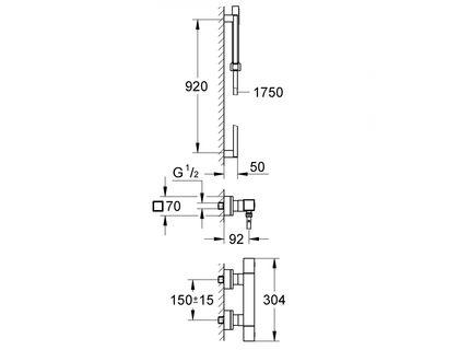 Термостат GROHE Grohtherm Cube 34495000 | интернет-магазин TOPSTO