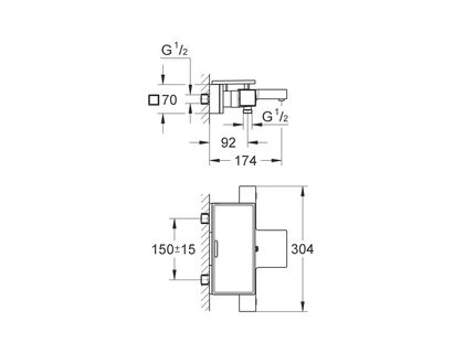 Термостат GROHE Grohtherm Cube 34502000   интернет-магазин TOPSTO