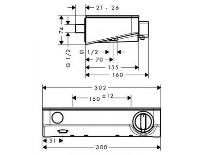 Термостат HANSGROHE ShowerTablet Select 13171000   интернет-магазин TOPSTO