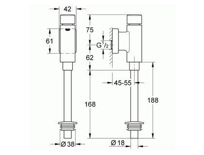 Смывной механизм GROHE Rondo 37346000 | интернет-магазин TOPSTO