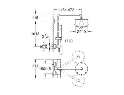 Душевая система GROHE Rainshower 27032001 | интернет-магазин TOPSTO