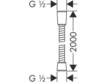 Шланг HANSGROHE Metaflex 28264000 | интернет-магазин TOPSTO