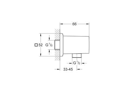 Шланговое подключение GROHE Allure Brilliant 27707000 | интернет-магазин TOPSTO