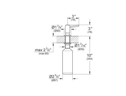Дозатор GROHE Contemporary 40536000 | интернет-магазин TOPSTO