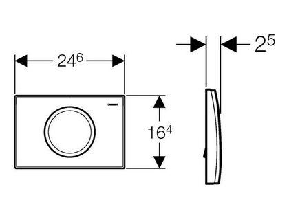 Кнопка GEBERIT Delta 115.120.21.1 | интернет-магазин TOPSTO
