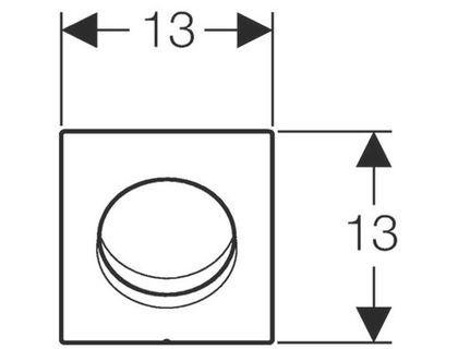 Кнопка GEBERIT HyTouch 116.011.11.5 | интернет-магазин TOPSTO