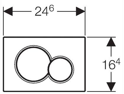Кнопка GEBERIT Sigma 01 115.770.DW.5 | интернет-магазин TOPSTO