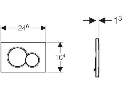Кнопка GEBERIT Sigma 01 115.770.KA.5 | интернет-магазин TOPSTO
