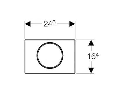 Кнопка GEBERIT Sigma 10 115.758.SN.5 | интернет-магазин TOPSTO