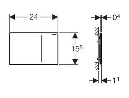 Кнопка GEBERIT Sigma 70 115.620.FW.1 | интернет-магазин TOPSTO