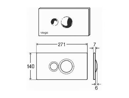 Кнопка VIEGA Visign for Style 596323 | интернет-магазин TOPSTO
