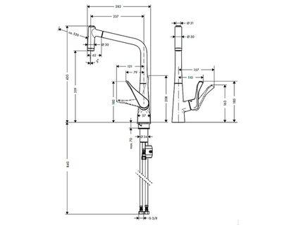 Смеситель HANSGROHE Metris 14820800 | интернет-магазин TOPSTO