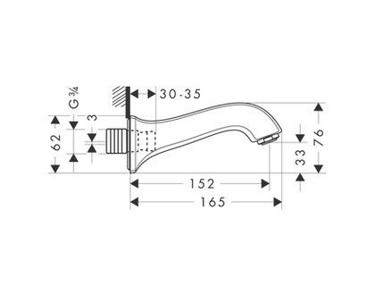 Излив HANSGROHE Metris Classic 13413000 | интернет-магазин TOPSTO