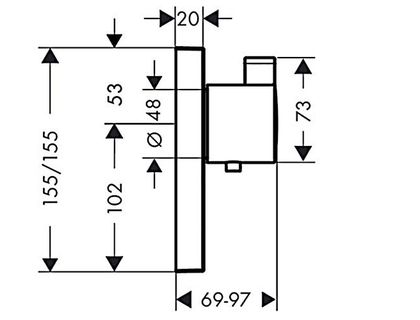 Термостат HANSGROHE Select Highflow 15761000 | интернет-магазин TOPSTO