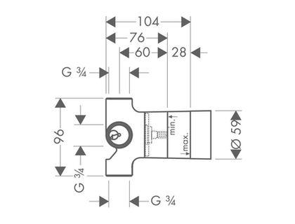 Скрытая часть HANSGROHE Quattro 15930180   интернет-магазин TOPSTO