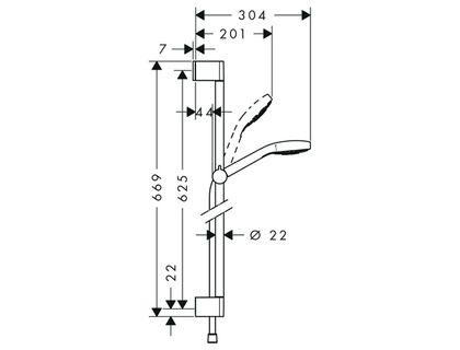 Душевой гарнитур HANSGROHE Croma Select E Multi 26580400 | интернет-магазин TOPSTO
