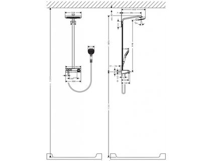 Душевая система HANSGROHE Raindance Select Showerpipe E 27127000 | интернет-магазин TOPSTO
