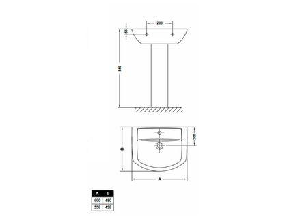 Раковина GALA SMART 25050 (72581) | интернет-магазин TOPSTO