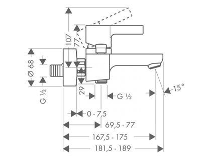 Смеситель HANSGROHE Metris S 31460000 | интернет-магазин TOPSTO
