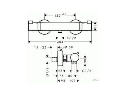 Термостат HANSGROHE Ecostat Comfort 13116000 | интернет-магазин TOPSTO