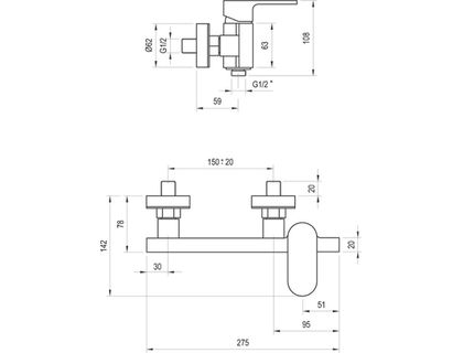 Смеситель RAVAK CR 032.00/150 (X070043) | интернет-магазин TOPSTO