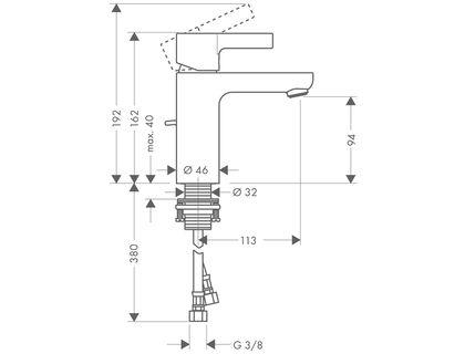Смеситель HANSGROHE Metris S 31060000 | интернет-магазин TOPSTO
