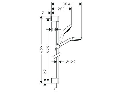 Душевой гарнитур HANSGROHE Croma Select S Vario 26572400 | интернет-магазин TOPSTO