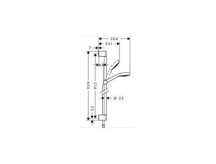 Душевой гарнитур HANSGROHE Croma Select E Multi 26590400 | интернет-магазин TOPSTO