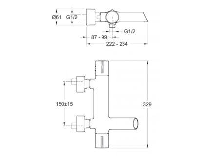 Термостат JACOB DELAFON TOOBI E8992-CP   интернет-магазин TOPSTO