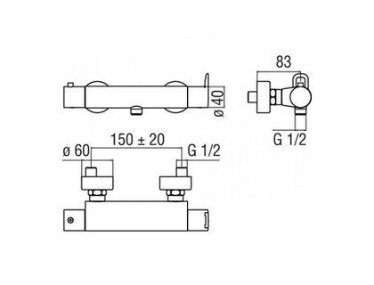 Термостат NOBILI Road RD00430CR | интернет-магазин TOPSTO