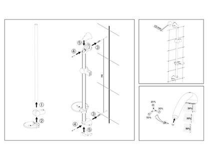 Душевой гарнитур JACOB DELAFON BASIC 2 E14330-CP   интернет-магазин TOPSTO