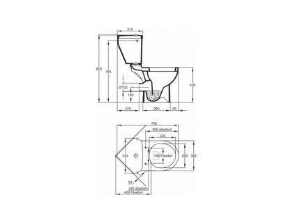 Бачок JACOB DELAFON ODEON UP E4741-00 для 18557К | интернет-магазин TOPSTO