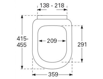 Крышка VILLEROY & BOCH SUBWAY 9M55 S101 | интернет-магазин TOPSTO