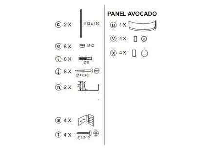 Крепеж панели RAVAK AVOCADO B28000000N   интернет-магазин TOPSTO