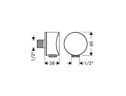 Шланговое подключение HANSGROHE Fixfit S 27453000 | интернет-магазин TOPSTO