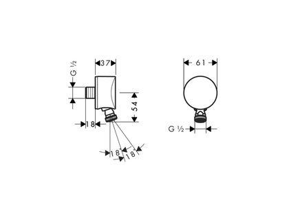 Шланговое подключение HANSGROHE Fixfit S 27506000 | интернет-магазин TOPSTO