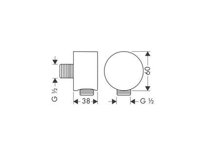 Шланговое подключение AXOR Starck Fixfit 27451000 | интернет-магазин TOPSTO